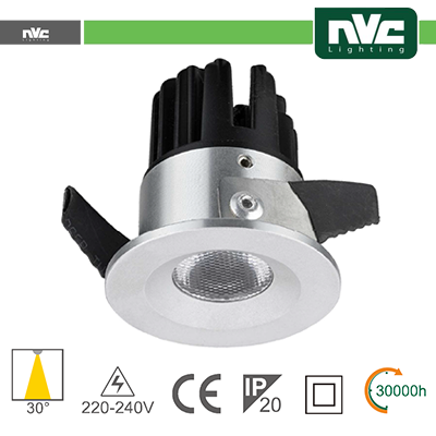 Downlight LED IP20 2W 3000K 150LM 30° Φ42/Φ35