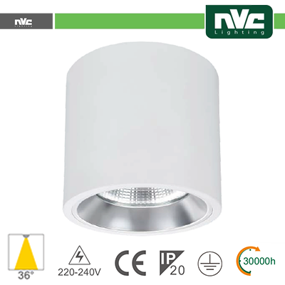 Downlight Sporgente - IP20 15W 1100LM 4000K 36°