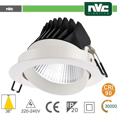 Spotlight LED IP20 25W 3000K 1580LM 36° Φ170/Φ150