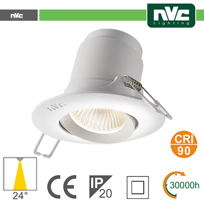 Spotlight LED IP20 9W 3000K 700LM 24º Φ118/Φ95